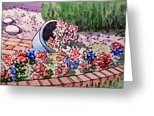 Flower Bed Sketchbook Project Down My Street Greeting Card by Irina Sztukowski