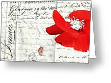 Flower Love Letter Greeting Card by adSpice Studios