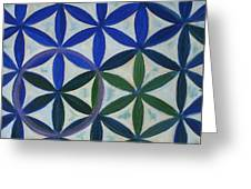 Flower Of Life Pattern Greeting Card by Art by Kar