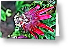 Flower Painting 0001 Greeting Card by Metro DC Photography