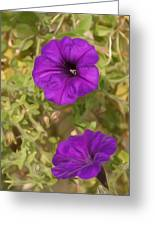 Flower Painting 0006 Greeting Card by Metro DC Photography