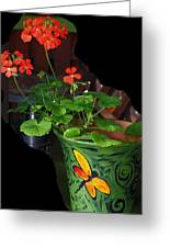 Flowerpot Greeting Card by Robert Trauth