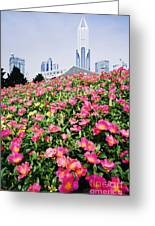 Flowers And Architecture Around Peoples Square Greeting Card by Jeremy Woodhouse