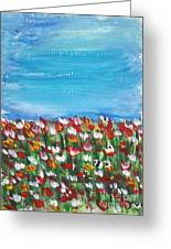 Flowers In Garden Greeting Card by Yvo Tenerife