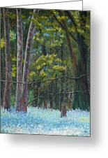 Flowers In The Wood Greeting Card by James Geddes
