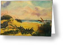 Flowers On The Beach Greeting Card by Karel Thome