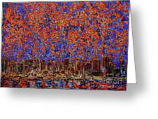 Flowers Over The City. New York Greeting Card by Andrey Soldatenko