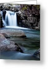 Flowing Falls Greeting Card by Justin Albrecht