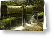Flowing Water From Mill Greeting Card by Andrew Soundarajan
