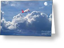 Fly Me To The Moon Greeting Card by Wingsdomain Art and Photography