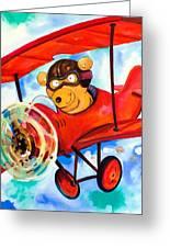 Flying Bear Greeting Card by Scott Nelson