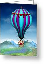 Flying Pig - Balloon - Up Up And Away Greeting Card by Mike Savad