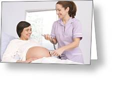 Foetal Monitoring Greeting Card by
