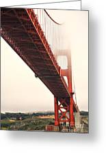 Fog Lifting At The Golden Gate Greeting Card by Cheryl Young