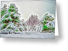 Foggy Morning Landscape 17 - Fractal Abstract Greeting Card by Steve Ohlsen