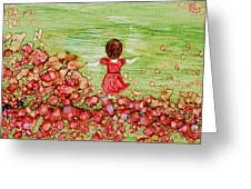 Folicking In The Meadow Greeting Card by Joyce Auteri