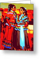 Folklorico Dancers Greeting Card by Randall Weidner