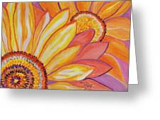 Follow The Sun Greeting Card by Connie Valasco