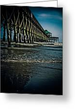 Folly Beach Pier Greeting Card by Jessica Brawley