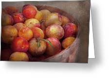Food - Peaches - Farm fresh peaches  Greeting Card by Mike Savad
