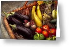Food - Vegetables - From Mother's Garden Greeting Card by Mike Savad