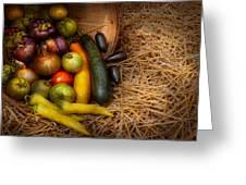 Food - Vegetables - Very Early Harvest Greeting Card by Mike Savad