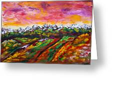 Foothills Fall Greeting Card by James Bryron Love