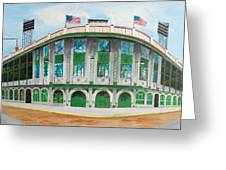 Forbes Field Greeting Card by Paul Cubeta
