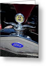Ford Hood Piece Greeting Card by Sean Stauffer