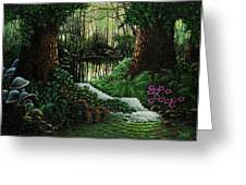 Forest Brook Greeting Card by Michael Frank