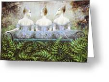 Forest Divas Greeting Card by Lolita Bronzini
