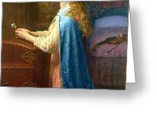 'Forget me Not' Greeting Card by Arthur Hughes