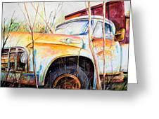 Forgotten Truck Greeting Card by Scott Nelson