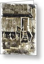 Forgotten Wooden House Greeting Card by Heiko Koehrer-Wagner