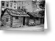 fort nashborough stockade recreation Nashville Tennessee USA Greeting Card by Joe Fox