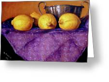 Four Lemons Greeting Card by Donelli  DiMaria