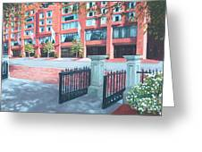 Four Seasons Hotel Greeting Card by Laura DeDonato