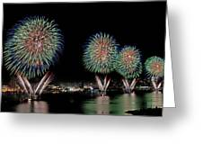 Fourt of July in NYC Greeting Card by Susan Candelario