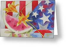 Fourth Of July Greeting Card by Amy Householder