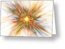 Fractal Genesis Greeting Card by Stefan Kuhn