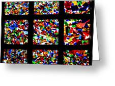 Fractured Squares Greeting Card by Meandering Photography