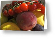 France, Paris Fruits And Vegetables Greeting Card by Keenpress