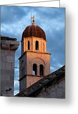Franciscan Monastery Tower At Sunset Greeting Card by Artur Bogacki