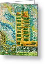 Frank Loyd Wright's Price Tower Greeting Card by Ragon Steele