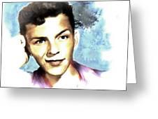 Frank Sinatra Greeting Card by Arne Hansen