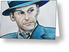 Frank Sinatra Greeting Card by Ken Huber