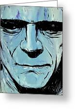Frankenstein Greeting Card by Giuseppe Cristiano