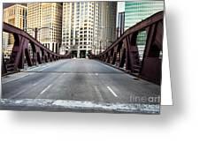 Franklin Orleans Street Bridge Chicago Loop Greeting Card by Paul Velgos