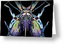 Freaky Bug Plant Greeting Card by David Kleinsasser