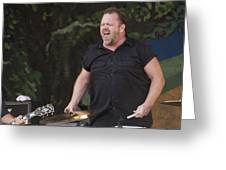 Fred Leblanc Of Cowboy Mouth Greeting Card by Terry Finegan